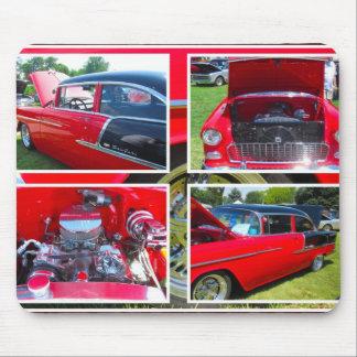 1955 Chevrolet Sedan Collage Mouse Pad Mousepad