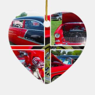1955 Chevrolet Sedan Collage Ornament