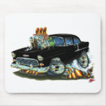 1955 Chevy150-210 Black Car Mouse Pads
