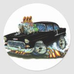 1955 Chevy150-210 Black Car Stickers