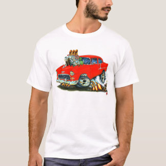 1955 Chevy 150-210 Red Car T-Shirt