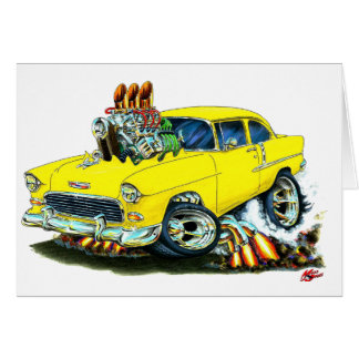 1955 Chevy 150-210 Yellow Car Card