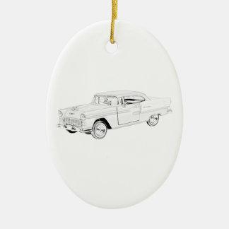 1955 Chevy Bel Air Ceramic Ornament