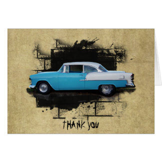 1955 Chevy Bel Air- Classic Cars- Thank You Note C Card