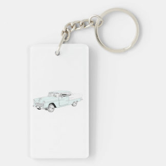 1955 Chevy Bel Air Rectangle Acrylic Key Chains