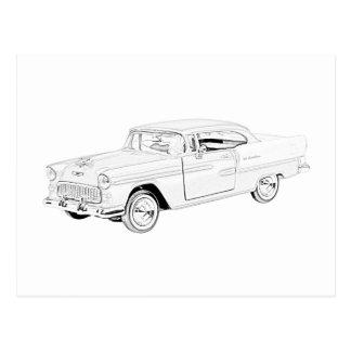 1955 Chevy Bel Air Postcard