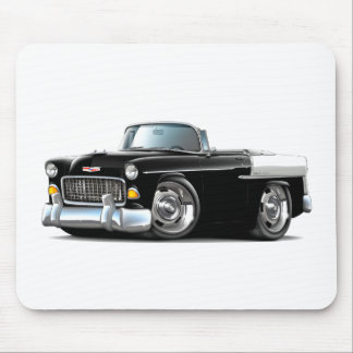 1955 Chevy Belair Black-White Convertible Mouse Pads