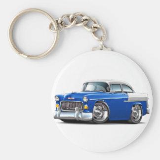 1955 Chevy Belair Blue-White Car Keychain
