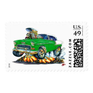 1955 Chevy Belair Green Car Stamp