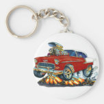 1955 Chevy Belair Maroon Car Keychains
