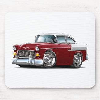 1955 Chevy Belair Maroon-White Car Mousepad