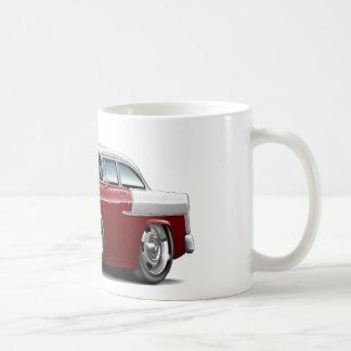 1955 Chevy Belair Maroon-White Car Classic White Coffee Mug