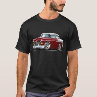 1955 Chevy Belair Maroon-White Car T-Shirt