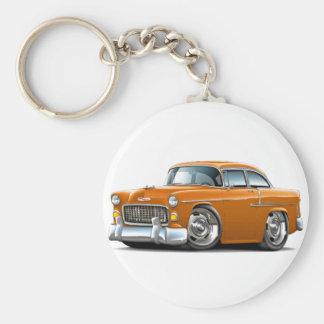 1955 Chevy Belair Orange Car Keychain