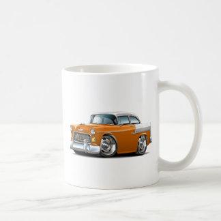 1955 Chevy Belair Orange-White Car Coffee Mug