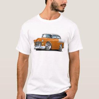 1955 Chevy Belair Orange-White Car T-Shirt
