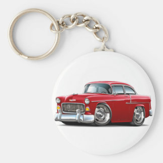 1955 Chevy Belair Red Car Keychain