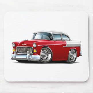 1955 Chevy Belair Red-White Car Mousepad