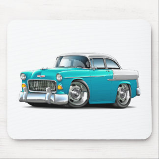 1955 Chevy Belair Turquoise-White Car Mouse Pad