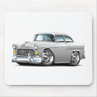 1955 Chevy Belair White Car Mouse Pad