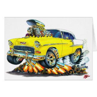 1955 Chevy Belair Yellow Car Greeting Card