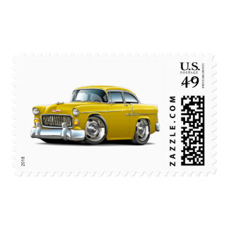 1955 Chevy Belair Yellow Car Postage