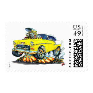 1955 Chevy Belair Yellow Car Postage Stamp