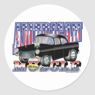 1955 Chevy Classic Round Sticker