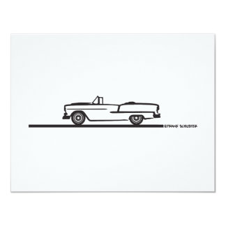 1955 Chevy Convertible 4.25x5.5 Paper Invitation Card