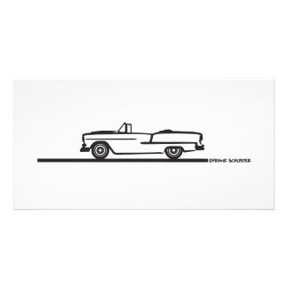 1955 Chevy Convertible Photo Card