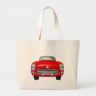 1955 Chevy Corvette Large Tote Bag