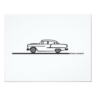 1955 Chevy Four Door 4.25x5.5 Paper Invitation Card