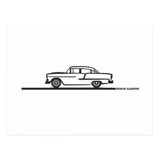 1955 Chevy Four Door Postcard