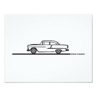 1955 Chevy Hardtop Post 4.25x5.5 Paper Invitation Card