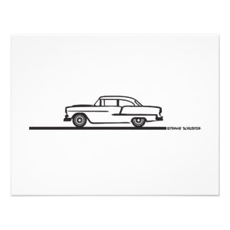 1955 Chevy Hardtop Post Personalized Invitation