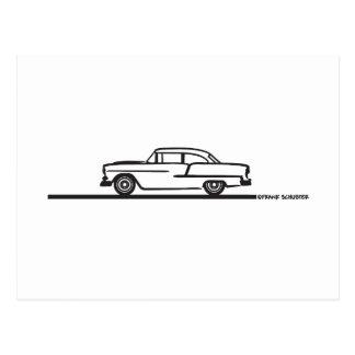 1955 Chevy Hardtop Post Postcard