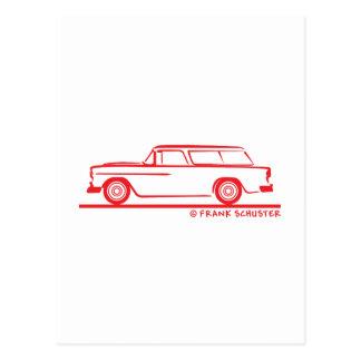 1955 Chevy Nomad Bel Air Postcard