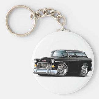 1955 Chevy Nomad Black Car Keychain