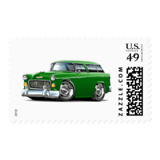 1955 Chevy Nomad Green Car Stamp