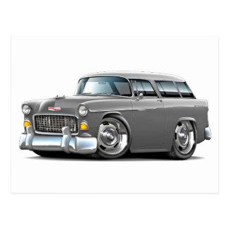 1955 Chevy Nomad Grey Car Postcard