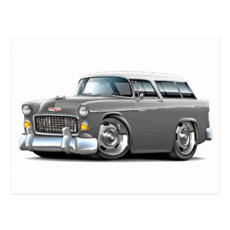 1955 Chevy Nomad Grey-White Car Postcard