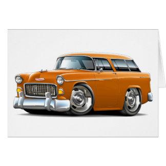 1955 Chevy Nomad Orange Car Greeting Card