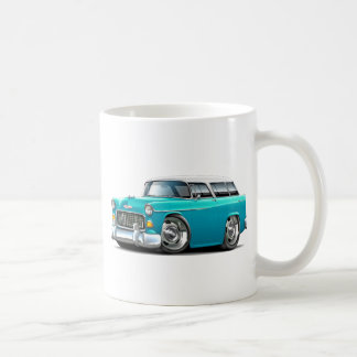 1955 Chevy Nomad Turquoise-White Car Coffee Mug