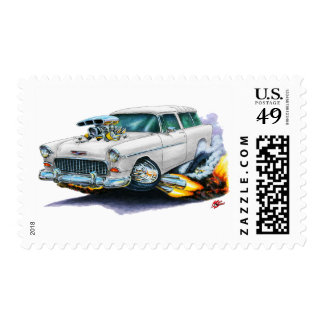 1955 Chevy Nomad White Car Stamps