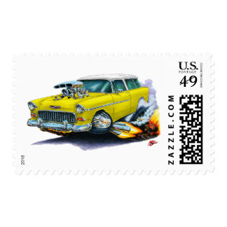 1955 Chevy Nomad Yellow Car Postage Stamps