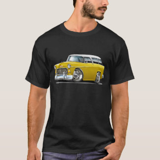 1955 Chevy Nomad Yellow-White Car T-Shirt