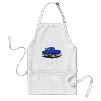 1955 Chevy Pickup Blue Truck Adult Apron