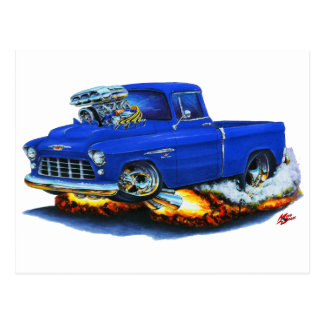 1955 Chevy Pickup Blue Truck Postcard