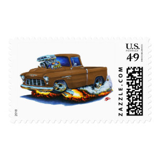 1955 Chevy Pickup Brown Truck Postage