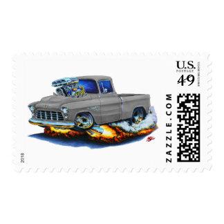 1955 Chevy Pickup Grey Truck Postage